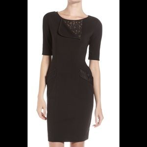 BCBG Max Azria Hansel Lace Insert Dress